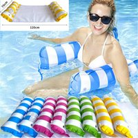 Fashion Lnflatable Floating Water Hammock Lounge Bed Chair Summer Kickboards Pool Float Swimming Pools Inflatables Beds Beach 130-73cm