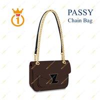السيدات أزياء عارضة مصمم أعلى 5a جودة حقيبة سلسلة passy m45592 براون زهرة فائدة crossbody pochette metis حقائب رسول حقيبة يد أكياس الكتف مع مربع