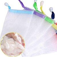 صابون رغوة شبكة حقيبة الصابون أكياس تخزين الحمام تنظيف قفازات شبكة البعوض صافي الصابون شبكة حقيبة دليل حقيبة الحمام الملحقات 209 R2
