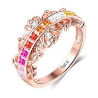Moda Gioielli creativi S925 Sier Rose Gold Anello Coreano Arcobaleno Femmina POPR06 3TBN716
