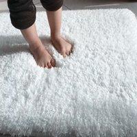 Alfombras de alfombras nórdicas mullidas para dormitorio / sala de estar rectángulo de gran tamaño de plisma antideslizante suave alfombra blanca rosa rojo 7 colores