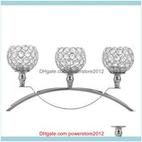 Décor & Gardenheymamba 3 Head Crystal Candle Holder Metal Stand Romantic Wedding Table Centerpieces Home Decoration Holders Drop Delivery 20
