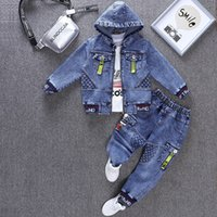 Spring & Autumn Cowboy Boy Sets New 2021 Korean Version Fashion Clothes For Teens Two-Piece Handsome Casual Children's Clothing
