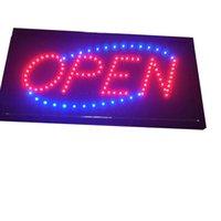 LED Open Sign Business Board, 19 * 10 Zoll Öffnet den Lichtplatinen-Beleuchtungsmodus für den Außenbereich, Bar, Friseurgeschäft, Einzelhandelshop, Ladenfront, Restaurant, Glastür