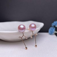 Dangle & Chandelier Shilovem 18k Rose Natural Freshwater Pearls Drop Earrings Fine Jewelry Women Trendy Anniversary Gift Myme7-7.56621zz
