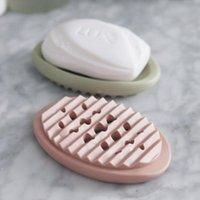 NEWSILICONE MOAM BOXES Ванная комната Полые сливные мыло Держатель чехол мягкий силиконовый мыльный лоток стойку задней уборки щетки оптом EWA4574