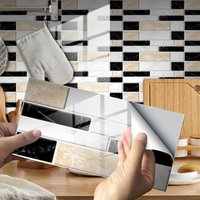 Wallpapers 12pc Self Adhesive Tile 3D Sticker Kitchen Bathroom Wall Decoration Mosaic Backsplash