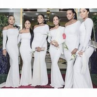 2020 Long Sleeves Mermaid Birdesmaids Dresses Sexy Wedding Guest Plus Size Stylish Celebrity Party Prom Dress