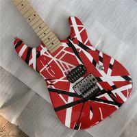 Eddie Van Halen Tribute, Guitarra eléctrica Frankenstein, Frankenstrat Quality Musical Instruments.