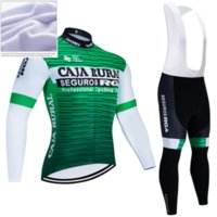 Winter CAJA RURAL CYCLING TEAM JERSEY 19D Bike Pants Set Ropa Ciclismo Thick Thermal Fleece BICYCLING JACKET Maillot Wear