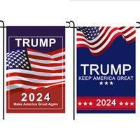 50pcs / dhl 트럼프 2024 플래그 Maga Kag 공화당 미국 국기 Anti Biden 결코 Biden 대통령 Donald 재미 있은 정원 캠페인 배너 G31701
