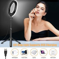 10inch Dimmable LED Ring Light with Tripods Stand Phone Holder Desk USB Selfie Lights Circle Lamp Ringlight Adjustable Tripod for Makeup Youtube TikTok Vlog