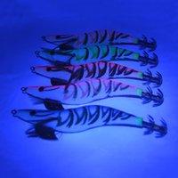 14cm 20g 오징어 지그 나무 새우 낚시 미끼 바닷물 5 색 이중 폭발 후크 3D 눈 리드 무게 finshing 미끼