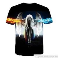 Grandes Yardes Nova Marca de Moda T-shirt Homens / Mulheres Senhoras Verão 3D Tshirt Imprimir Anjo Camiseta Tops Teessoccer Jersey