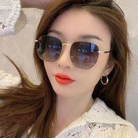 Classic Women's Sunglasses Men Women Antireflection Eyeglasses Frameless Resin Lenses Double Beam Trimming Glasses Eyewear High De Rhvu
