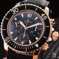 Hombres clásicos de acero inoxidable Automático Mecánico Flyback Nylon Cuero ETA 7750 Reloj Limitado Silver Rose Gold + Wristwatches
