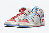 2021 Release Ishod Wair x Magnus Walker X Dunk High Pro Sb Urban Outdoor Shoes Männer Frauen 277 Rot Blau Weiß Sport Turnschuhe mit Original Box DH7683-100