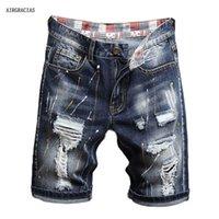 AirGracias 2021 New Llegan shorts Hombres Jeans Brand-Ropa Retro Nostalgia Denim Bermudas Short para hombre azul Jean Tamaño 28-40 x0601