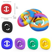 SNAPPERZ UNZIP TOYS Fidget Toy Toy Grip Ring Sensory Toy Autism Reliever Kids Adult Antistresse Toy Train Fight Party Favor