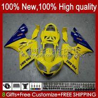 Bodywork Kit For Triumph Daytona 600 650 CC Daytona650 02-05 Cowling 104HC.20 yellow on sale Daytona600 2002 2003 2004 2005 Bodys Daytona 600 02 03 04 05 Full Fairings