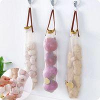 Картофель для хранения картофеля подвесной мешок полые дышащие сетки мешки Организатор кухонный чеснок Джинджер Стипливая сумка WLL513