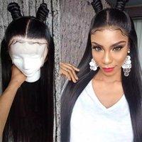 Spitze Perücken Große Gnade Gerade Prepucked Front Front Human Hair 150% Dichte 13x4 360 Frontal Perücke Remy Brazilian