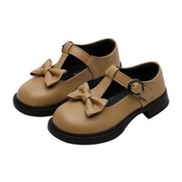 Spring Kids Shoes Girl Casuals Hook&Loop Solid Shallow Butte...
