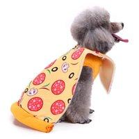 Vestiti del cane di stile della pizza del costume dell animale domestico divertenti natale Creative Halloween Party per l'abbigliamento di Natale
