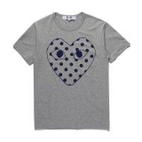 COM New G 1 CDG Heart PLAY Summer Japanese tide brand men's women's T-shirt cotton tee peach pink color