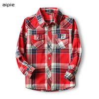 Shirts 2021 Spring Children Cotton 100% Plaid Long-sleeved Boy's For 3-12 Year Kids