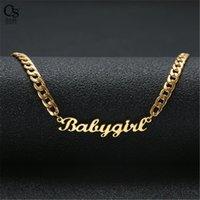 Gold placcato in acciaio inox Nome personalizzato Lettera Collana pendente per uomo Dono dei gioielli Dono per gli amici 130 U2