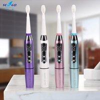 Seago Elektrikli Diş Fırçası Sonic Yetişkin Pil Diş Fırçalar Sakız Sağlık Su Geçirmez En Iyi Hediye Ile 5 Yedek Fırça Kafaları SG910 C18112601