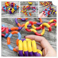 Adulto Anti estrés Mano Sensor Twisted Toys Toys Finger Para Niños Autismo Dexteridad Entrenamiento Tangle