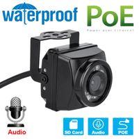 IP66 Водонепроницаемый Ночное видение Миниатюрный ИК IP POE Камера OnVif Сеть P2P TF Картовой Слот Запись Для Камеры Гнезда Carbird