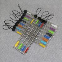 120 мм Wax Dabber Tools для курения с силиконовым наконечником из нержавеющей стали DAB-инструмент Стеклянная водопроводная труба Nectar Collector Kit