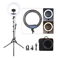 Flash Heads FOSOTO RL-18II Led Ring Light 18 Inch Lamp 55W Ringlight Pography With Tripod Stand For Phone Makeup Youtube Tiktok