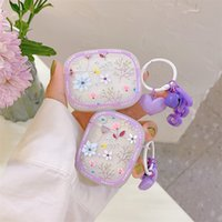Cute Flower Floral Earphone Cases For Apple Airpods Pro 2 3 Air Pods Wireless Bluetooth Headset Charging Box Protector Cover