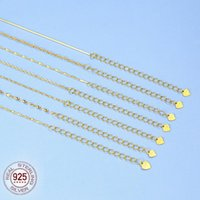 100% 925 Sterling Silver Snack Chain For Woman 40cm+5cm Women Adjustable Necklace,silver Jewelry Chains