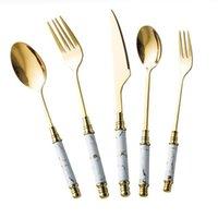 Керамическая посуда ужина для ужин ложки ножа Урожай столовые приборы 304 посуда из нержавеющей стали