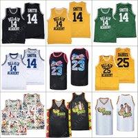 Erkekler, Bel-Hava Akademisi Basketbol Forması 14 Taze Prensi Smith 23 Carlton Banks 25 Formalar Dikişli