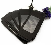 Pcs Kraft Paper Black Cell Phone Case Packaging Box With Clear Window For Mobil Gift Wrap