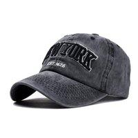 ozyc الرمال غسلها 100٪ القطن قبعة بيسبول للنساء الرجال خمر أبي قبعة نيويورك التطريز رسالة في الهواء الطلق قبعات الرياضة