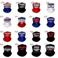 DHL expédié US Présidentielle Élection Trump 2024 Masque Masque Masque Cyclisme Masques de cyclisme Foulard Moto Magie Foulards Foulards Faurs Coulée Col Masque Visage extérieur