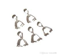 10 шт. / Лот 925 стерлингового серебра прижимной клип Залог для DIY Craft Fashion ювелирные изделия GFIT бесплатный корабль W19