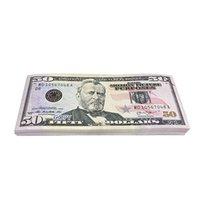 1pcs papier imprimé argent jouets USA 20 50 100 Dollar et Europ Film Prop Banknote pour enfants cadeaux de Noël ou film vidéo