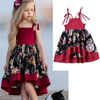 New Girl Print Dress European and American Style Children Ir...
