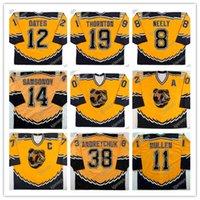 빈티지 보스턴 Bruins Jersey 37 Patrice Bergeron 19 Joe Thornton 14 Sergei Samsonov 42 P.J. 스톡 12 Adam Oates Heinze 8 Cam Neely Throwback Hocke