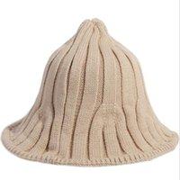 Вязание вязание Направленная Простая Личность Рыбацкая Шляпа Случайный прилив Сплошной Цвет Женская Зима Зима Взрослый Cap Широкие Breim Hats