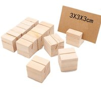 Party Wood Cards Holder Name Place Card Menu Holders Number Clip Stand Desk Accessories Wedding Decoration SN2567