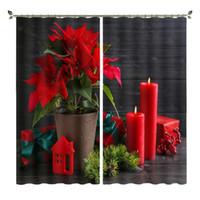 Tenda Drappa Babson Red Flower Flower Decoration Stampa digitale DIY Avanzato Personalizzato PO